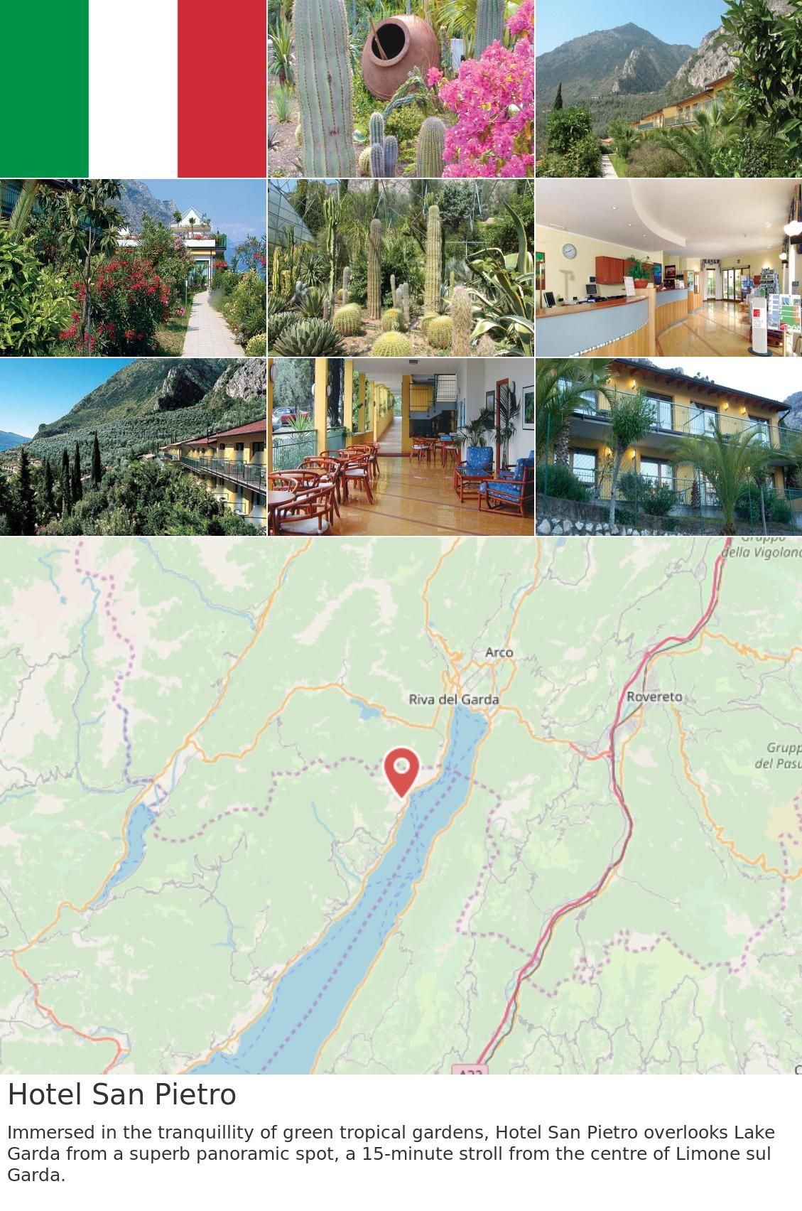 Europe Italy Limone Sul Garda Hotel San Pietro Immersed In The Tranquillity Of Green Tropical Gardens Ho Summer Swimming Pool Tropical Garden Outdoor Pool