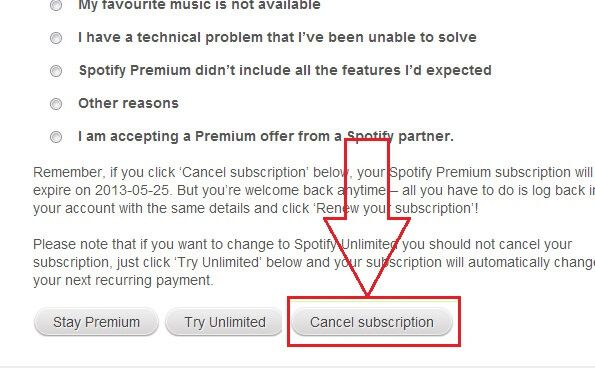 How To Cancel Spotify Subscription With Pictures Cancel