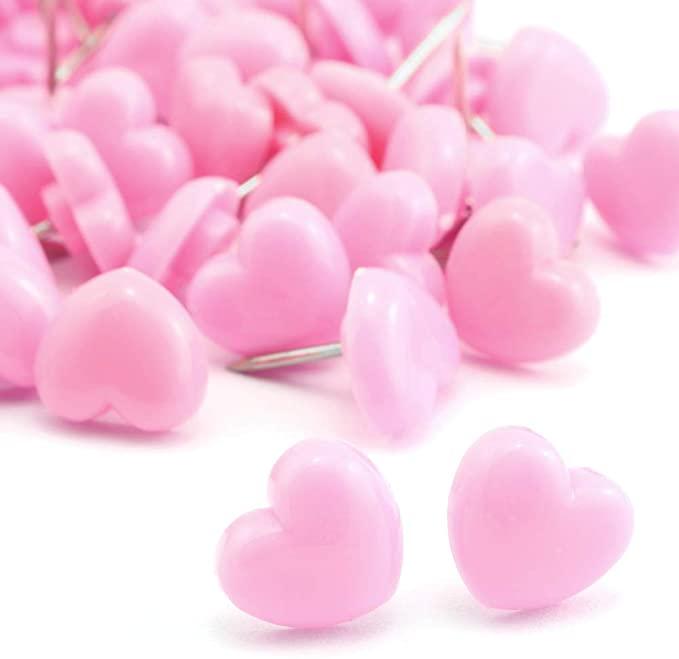 Amazon Com Lind Kitchen 100pcs Heart Shape Push Pins For Home School Office Notice Board Cork Board Cute Thumbtacks Tack Thumbtack Cork Board Feminine Decor