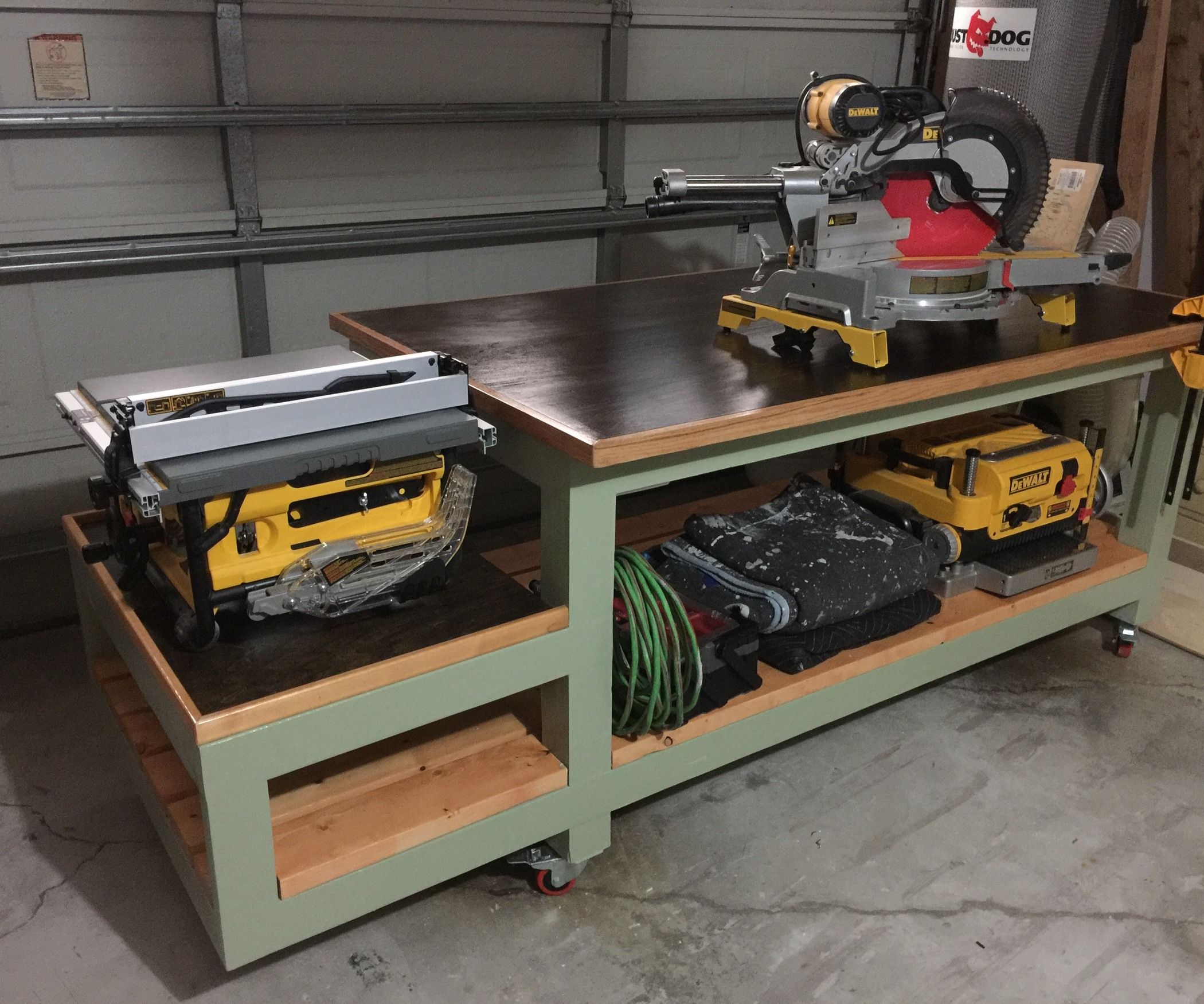 Woodworking Tool Bench All In One Work Bench Work Pinterest Garage