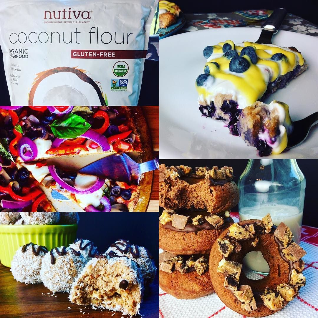 Nutiva Coconut Flour how do I love thee let me count thy ways... I love thee in cookies I love thee in cakes I love thee in donuts I love thee in cupcakes I love thee in scones I love thee in Truffles I even love thee in PIZZA... And did I mention cookies...(already knew I did... Just wanted to mention it twice...)  Thank you @nutiva for the best organic gluten free coconut flour on the market!Also best macros in town more protein than net carbs! Wwwhhhaaa... Now flour can be our friend…