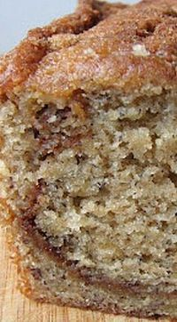 Trisha Yearwood's Banana Bread - This recipe is extremely moist, has wonderful flavor and a nice crumbly texture. The streusel swirled throughout takes it one step closer to perfect! ❊