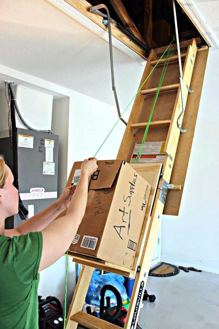 Improve your attic storage with this DIY lift system