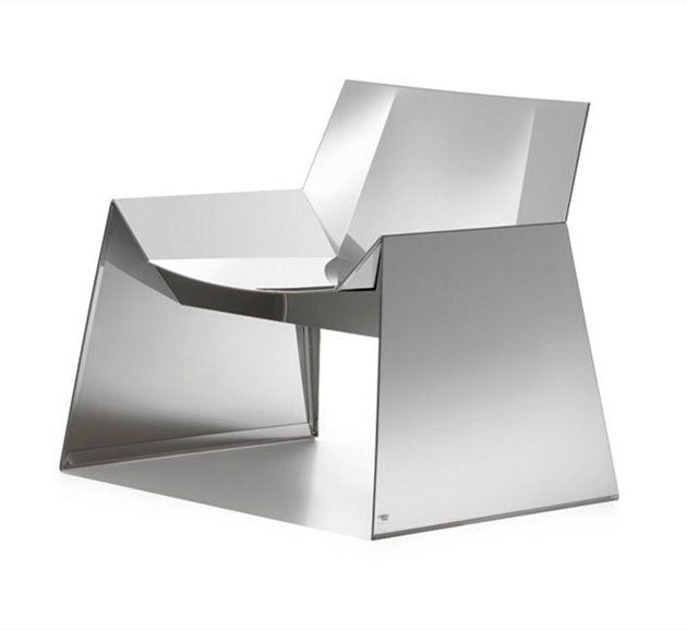 Stainless Steel Armchair ALASKA Cattelan Italia