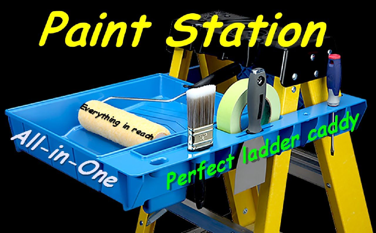 paint station, ladder accessories, ladder caddy, shack tip