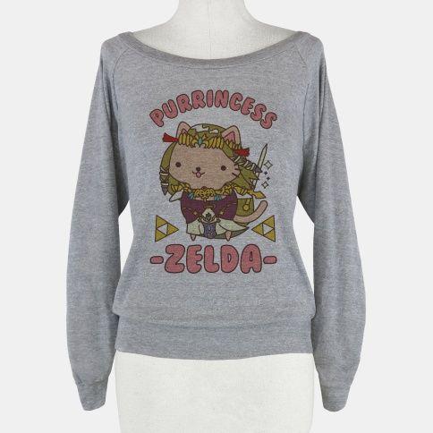 Purrincess Zelda #cats #catshirt #zelda #gamergirl #gamer