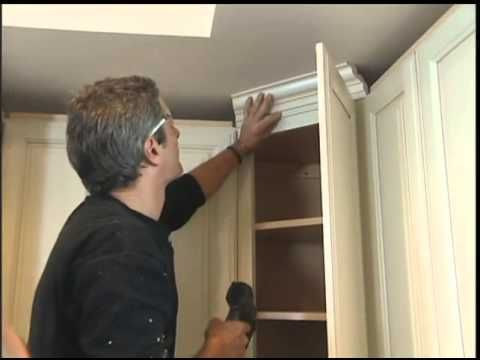 Installing Molding On The Kitchen Cabinets Kitchen Cabinets Kitchen Cabinet Crown Molding Cabinets With Crown Molding