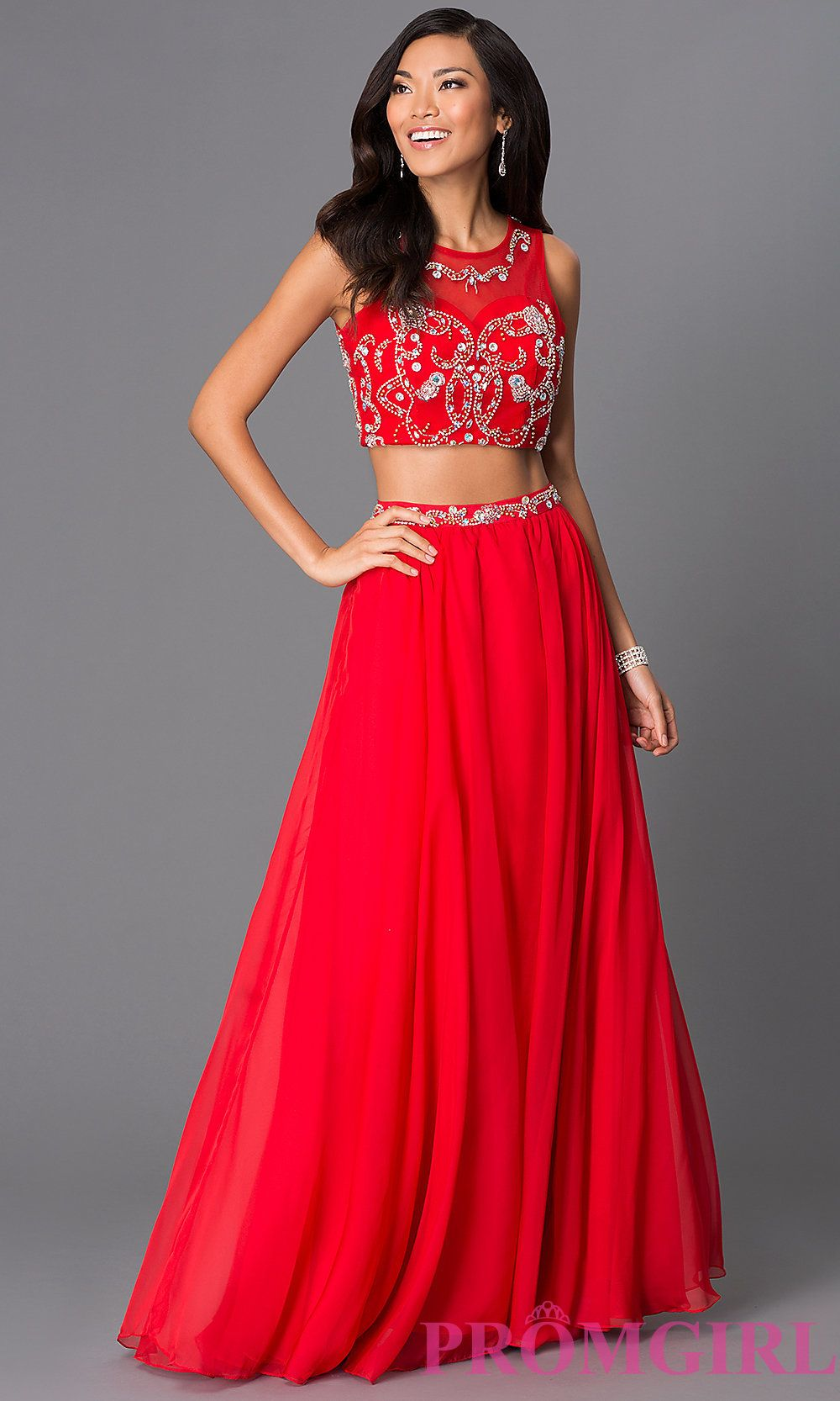 Two Piece Floor Length Gown 8152 Style: NA 8152