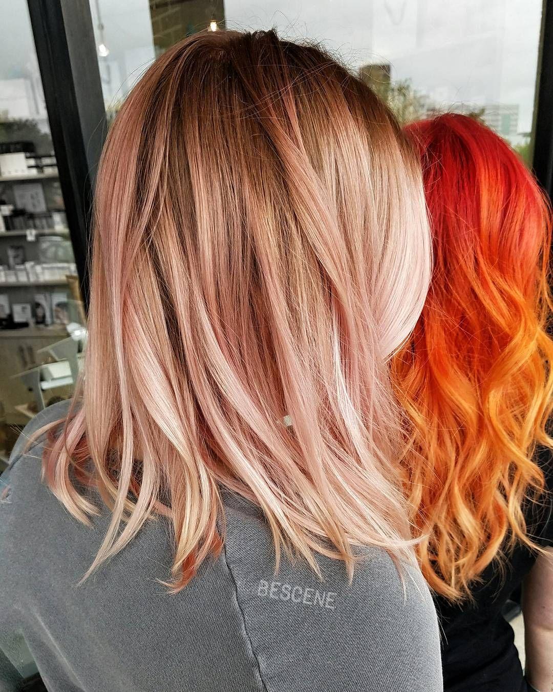 ROSE GOLD  VS FIRE  HAIR                                                                                                                                                                                 More