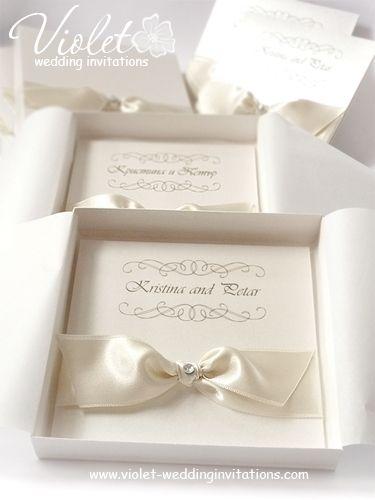 Style Wedding Invitation Violet Handmade Invitations