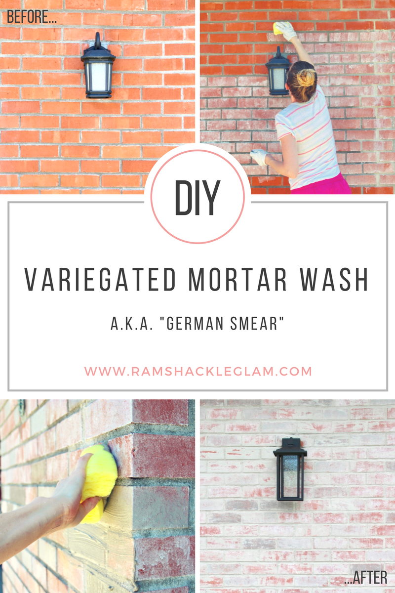 How To Do A Mortar Wash (Or \