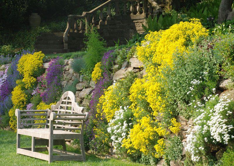 Parede de Rochas, no Morris Arboretum da Universidade da ...