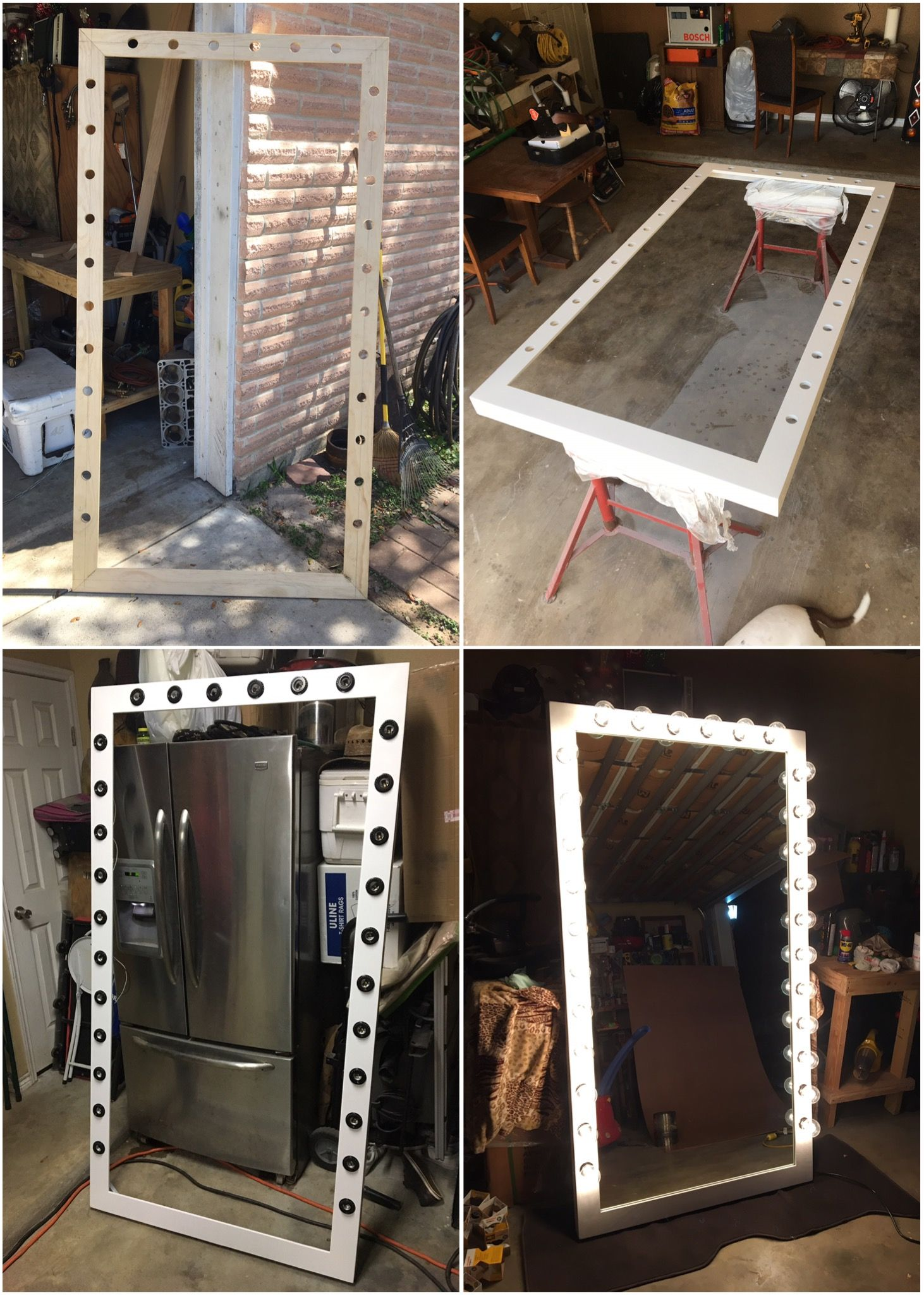 Stand Up Vanity 6 5ft Tall By 3 5ft Wide 1 4 Mirror