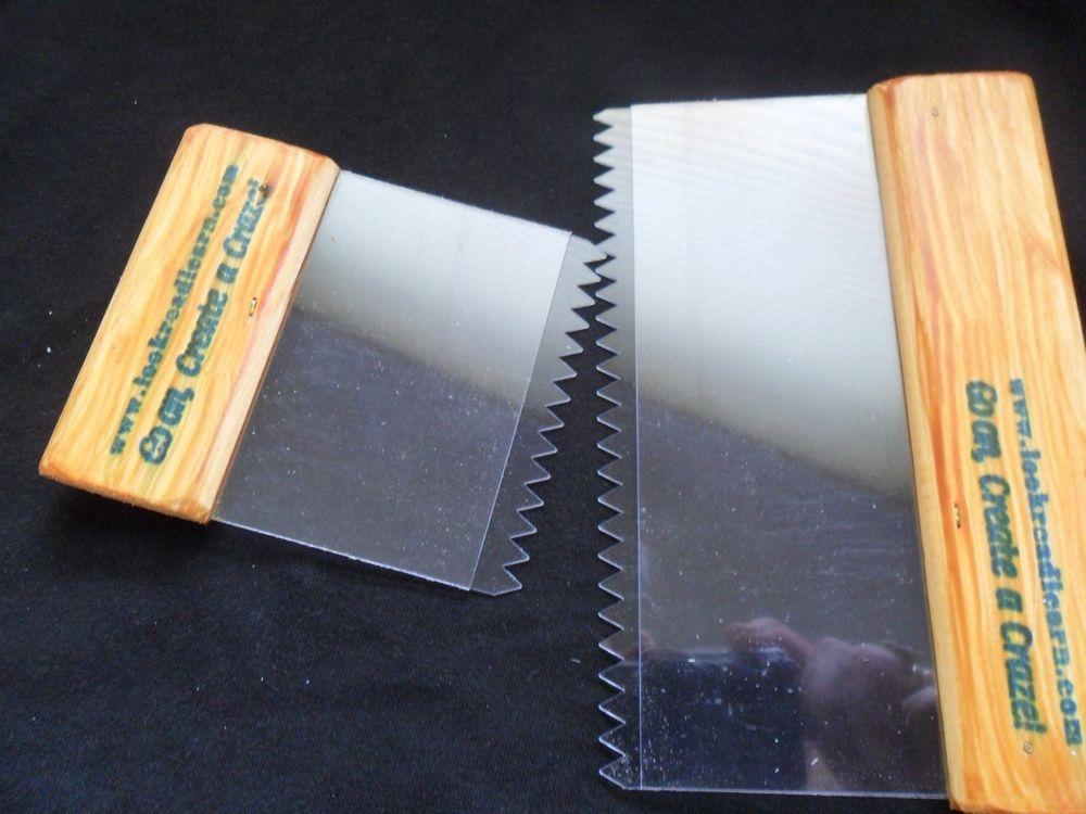 2 X Artex Pattern Style Comb Tools. STANDARD SET