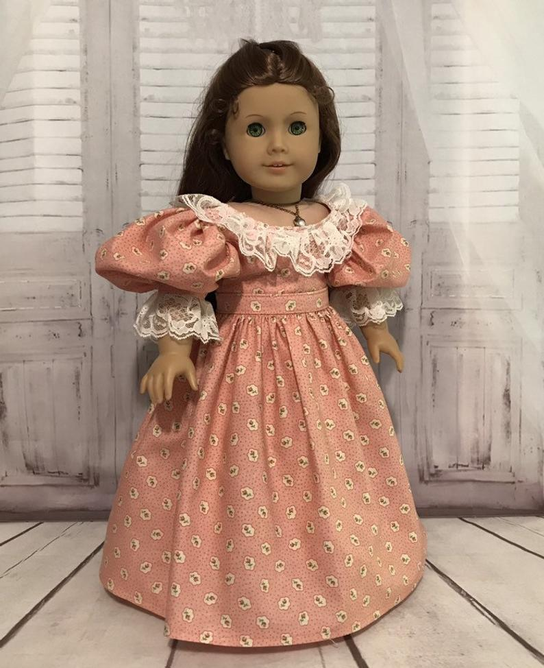 18 Doll Clothes/18 inch Doll Clothes/American Girl size/Fits American Girl/Doll Clothing/Doll Dresses/Gowns/Sincerely Robbie Etsy/Dolls #historicaldollclothes