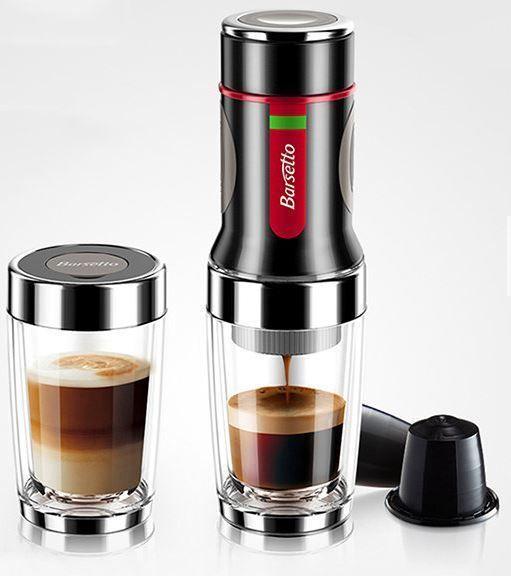 New Portable Hand Press Coffee Maker Mini Espresso Pods Coffee Machine Barsetto Espressomachi Capsule Coffee Machine Pod Coffee Machine Portable Coffee Maker
