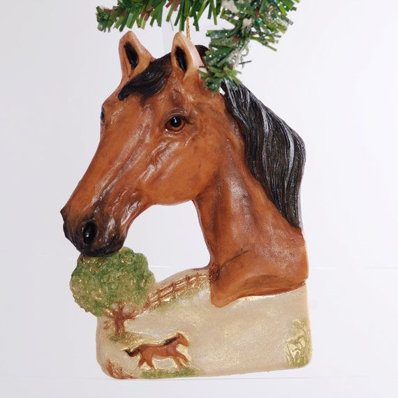 Horse Personalized Christmas Ornament  buckskin by Christmaskeeper, $13.95