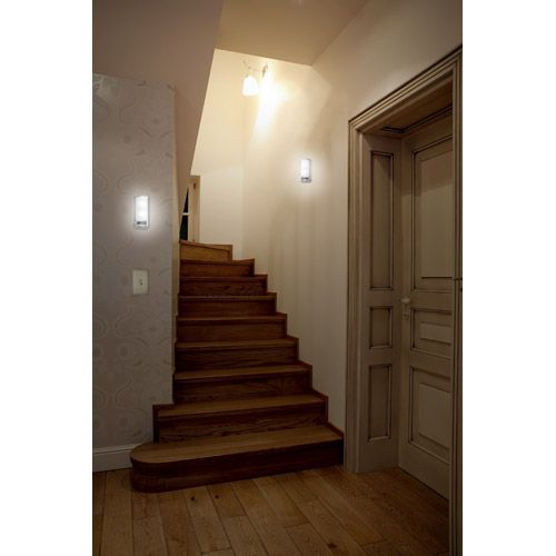 ge led motion sensing wall sconce instant light anywhere you need it with four warm wall - Battery Operated Sconces