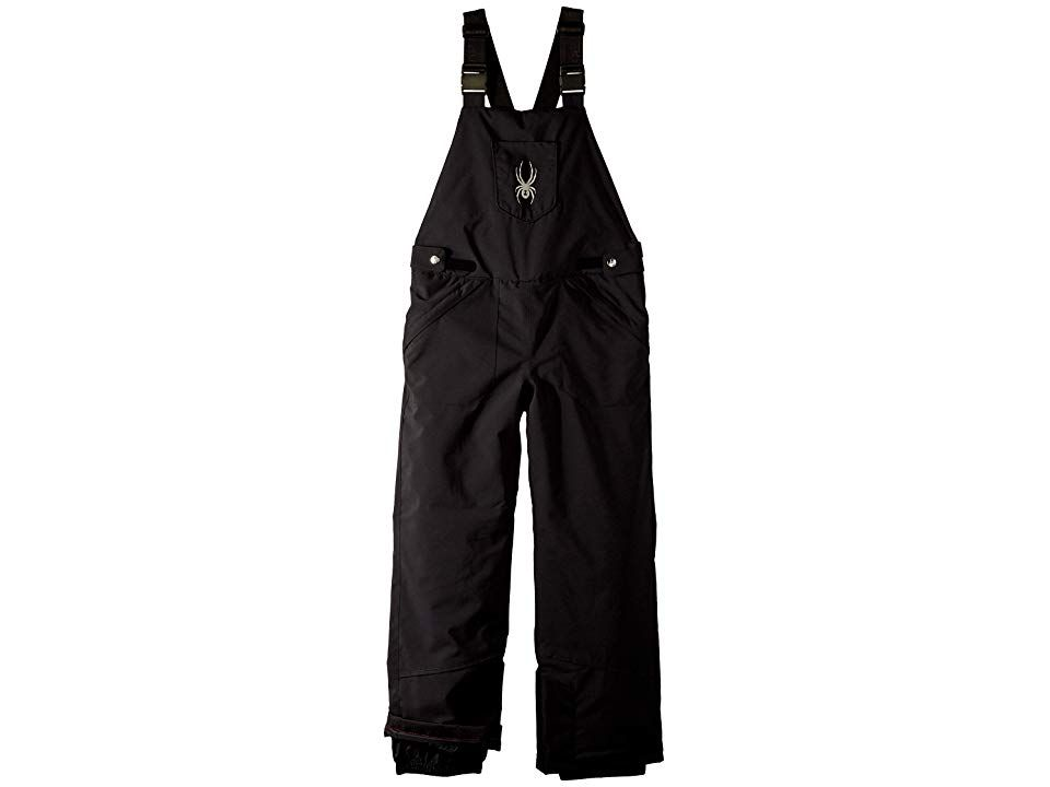 Spyder Kids Moxie Overall Pants Big Kids BlackBlack Girls Outerwear Pick up the pace and make your way down the hills with dependable style in the Spyder Kids Moxie Overa...