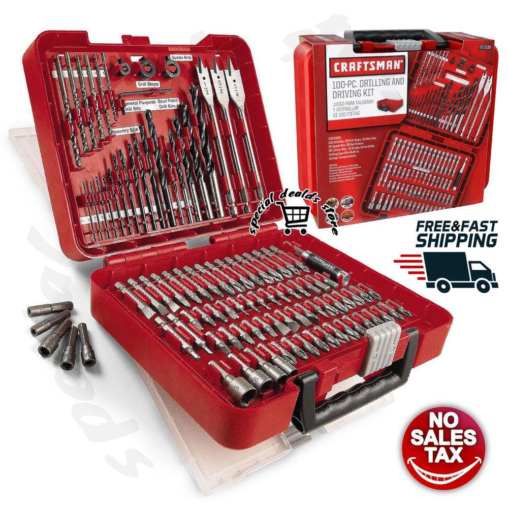 Details About Craftsman 100 Pc Accessory Kit Mechanic Tool Set Polished Combo Ratchets Case Mechanics Tool Set Mechanic Tools Tool Case Storage