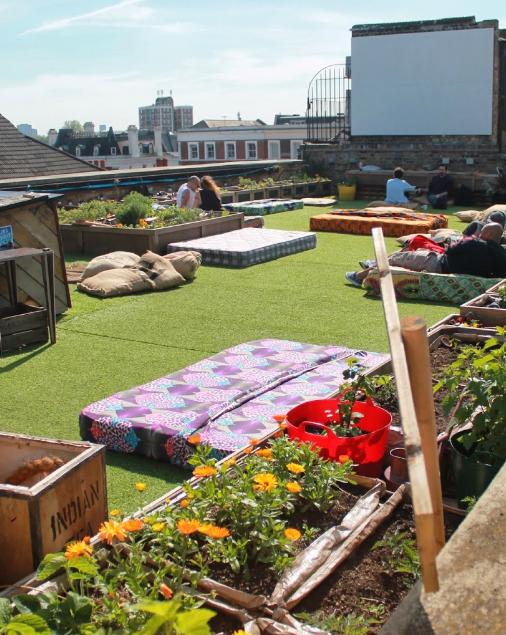 Dalston Roof Park Shoreditch Rooftop Restaurant Outdoor Alfresco