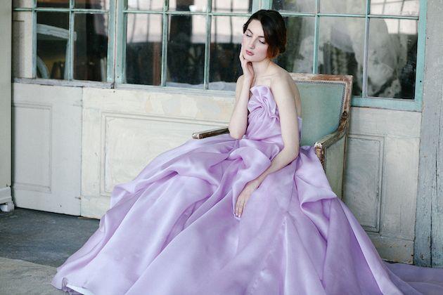 Exclusive Look: Sareh Nouri Orchid Wedding Dress | Orchid wedding ...