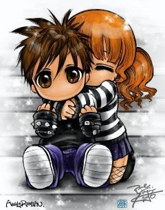 Cute Anime Couple Flickr Photo Sharing Emo Cartoons Cute Emo Couples Emo Love