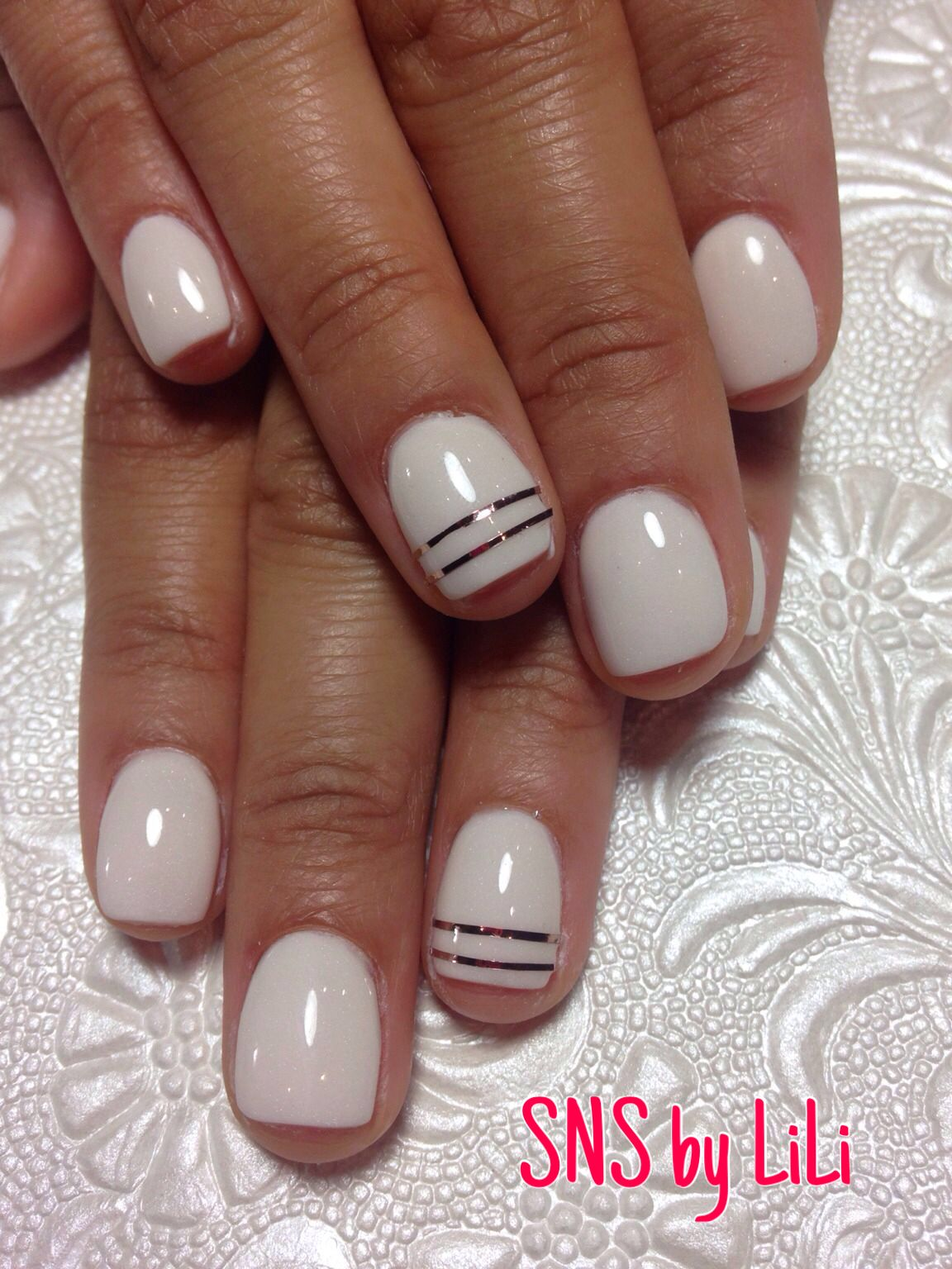 Sns Nails With Design By Lili Powder Nails Sns Nails Colors Sns Nails Designs