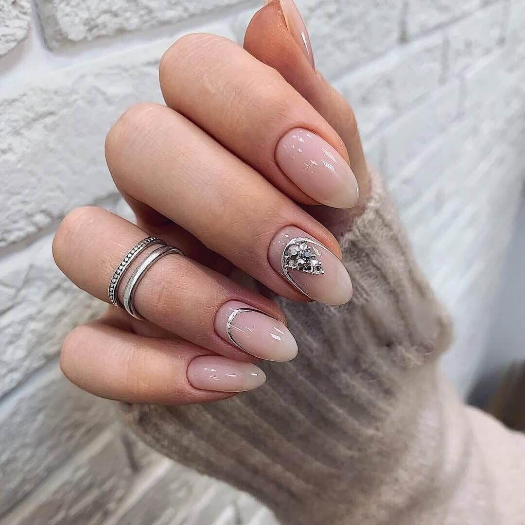 Nail Art 4625 Best Nail Art Designs Gallery Bestartnails Com Stone Nail Art Bridal Nail Art Transparent Nails