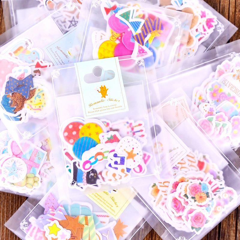 Japanese Style Kawaii Girl Stickers Cartoon Scrapbooking DIY Party Souvenir Gift
