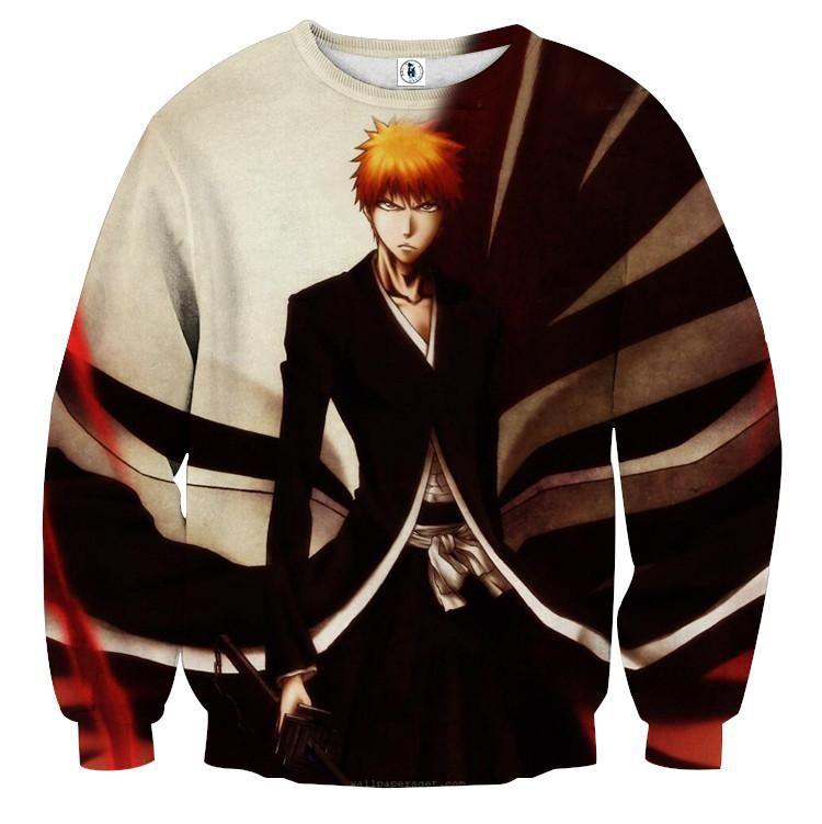 Bleach ichigo kurosaki shinigami anime theme sweatshirt