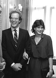PRINCE ALBERT OF MONACO and PRINCESS STEPHANIE OF MONACO at a party in London on 6th July 1981.