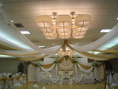 Fabric Decorating In Wedding Amity Wedding Ceiling