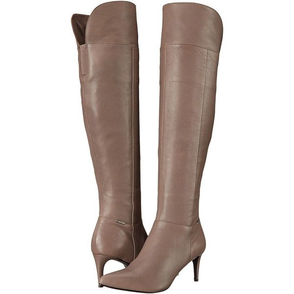 Womens Boots Calvin Klein Clancey Winter Taupe Leather