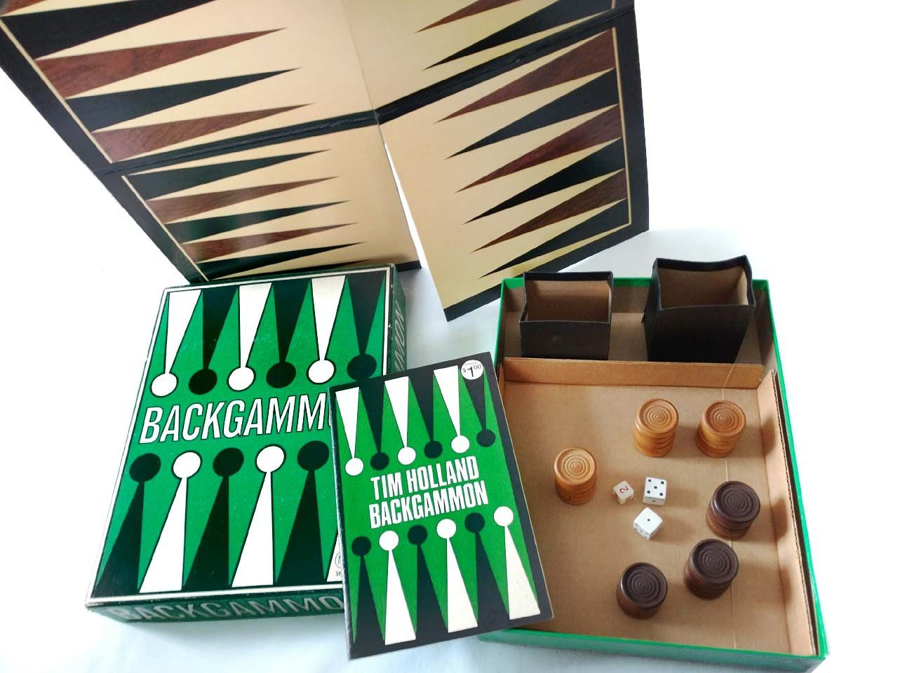 Vintage Backgammon Game Tim Holland REISS Style 751 1973
