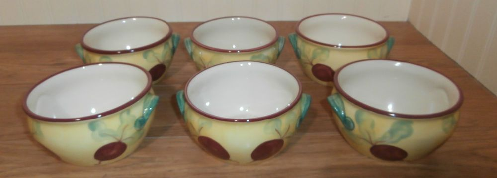 Pfaltzgraff Pistoulet Onion Soup Crocks   Set of 6    Made in Mexico #Pfaltzgraff