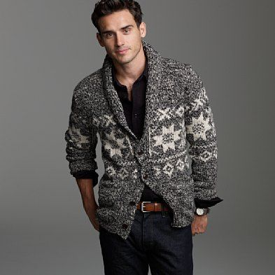 Fashion and Style Magazine: J. Crew Shawl-Collar Fair Isle ...
