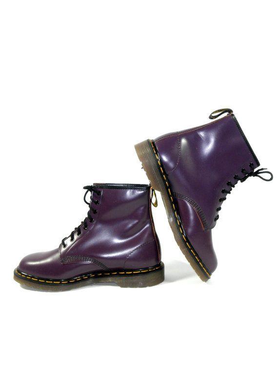 8b83e6dd457 Vintage Rare Purple Dr. Marten 1460 Lace Up by PacificWonderland, $250.00