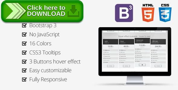 Free Nulled Bootstrap 3 Metro Pricing Tables Download Pricing Table Metro Cleaning