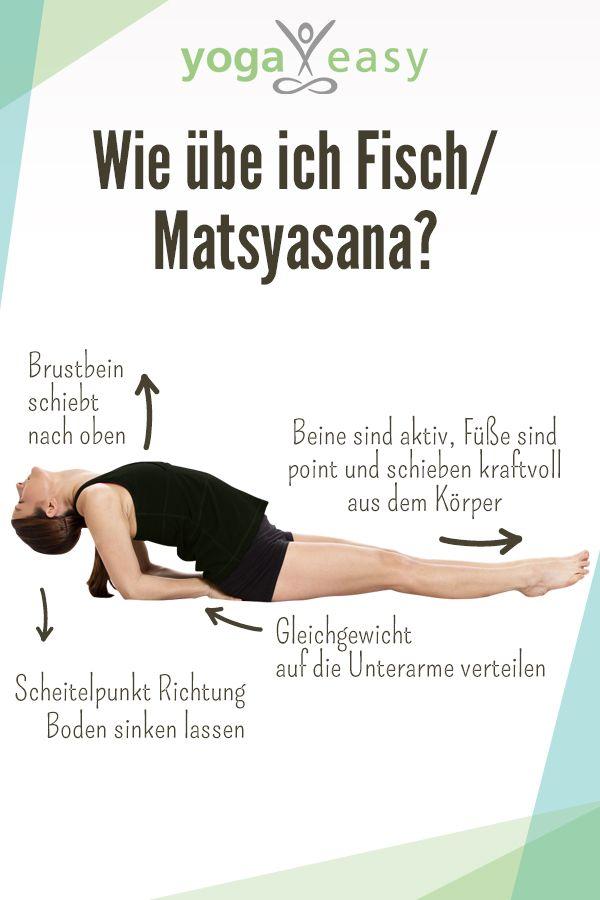 So übst du die Yoga-Übung Fisch/Matsyasana. Wirkungen, Anleitung und Tipps für die Asana. #personalgrowth
