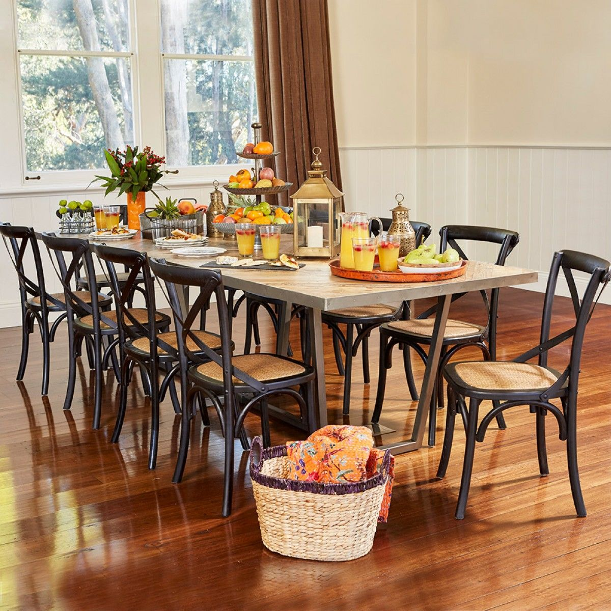 Ikan Dining Table 300X100 - Iron Feet Recycled Pallet Pine ...