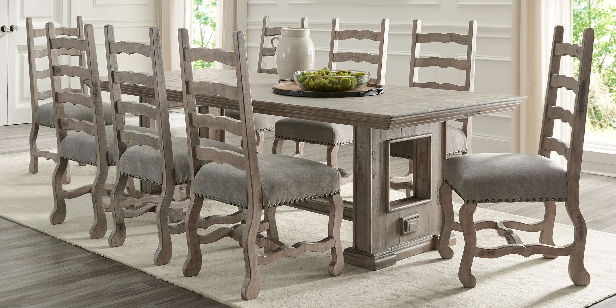 Cindy Crawford Home Pine Manor Brown 5 Pc 102 In Dining Room Brown Dining Table Dinning Room Tables Dining Room Sets