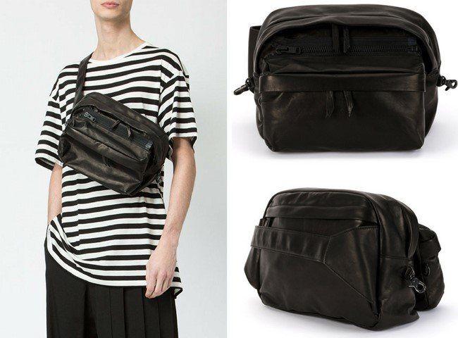 Top 18 Minimalist Black Fashion Designer Messenger Bags For Men