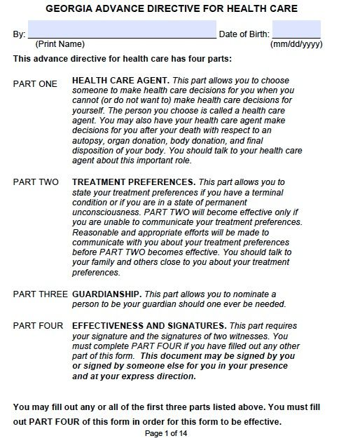 Health Care Power Of Attorney Georgia Health Pinterest Health Care