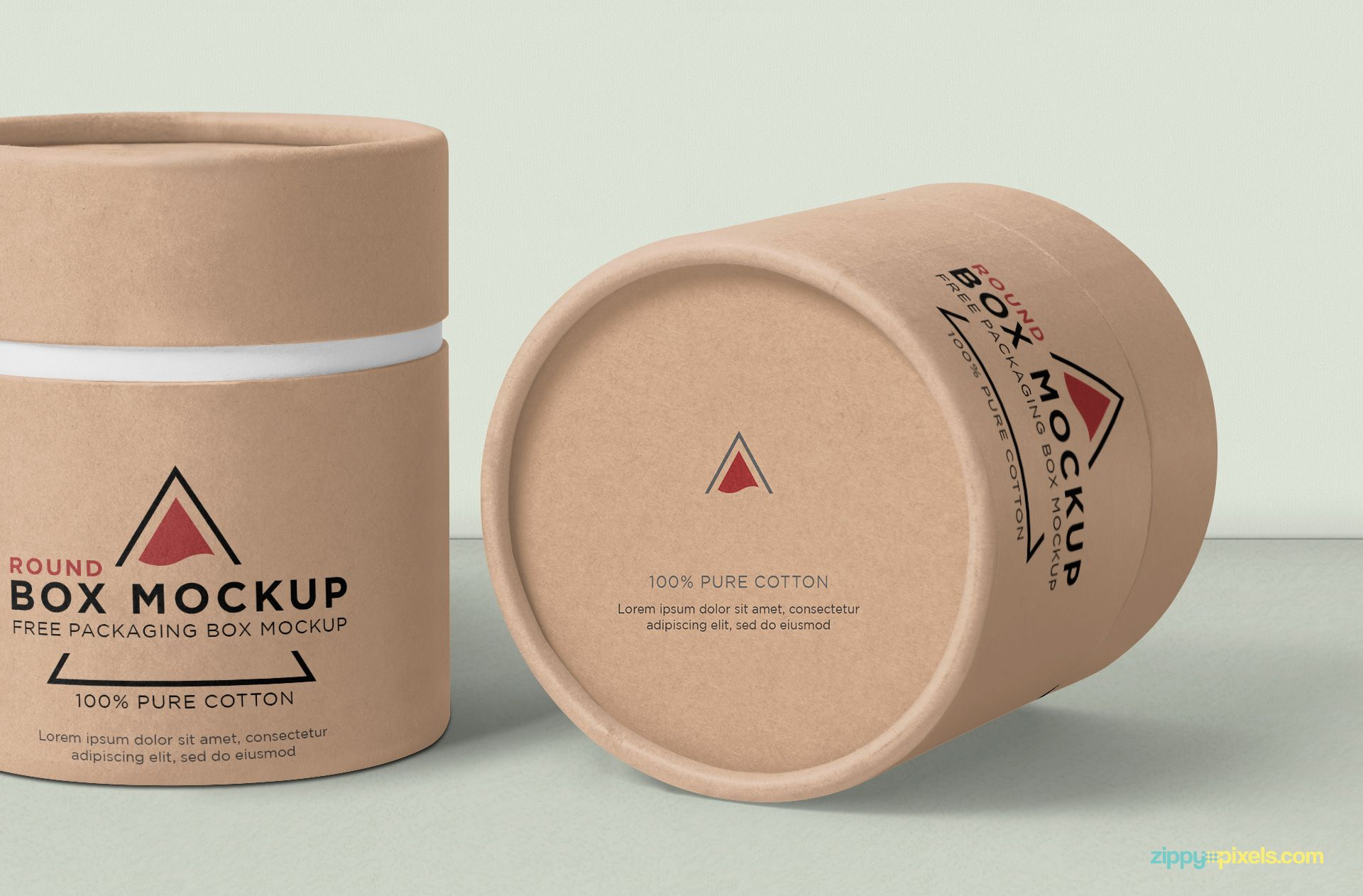 Download Free Round Box Mockup Zippypixels Box Mockup Round Box Free Packaging Mockup