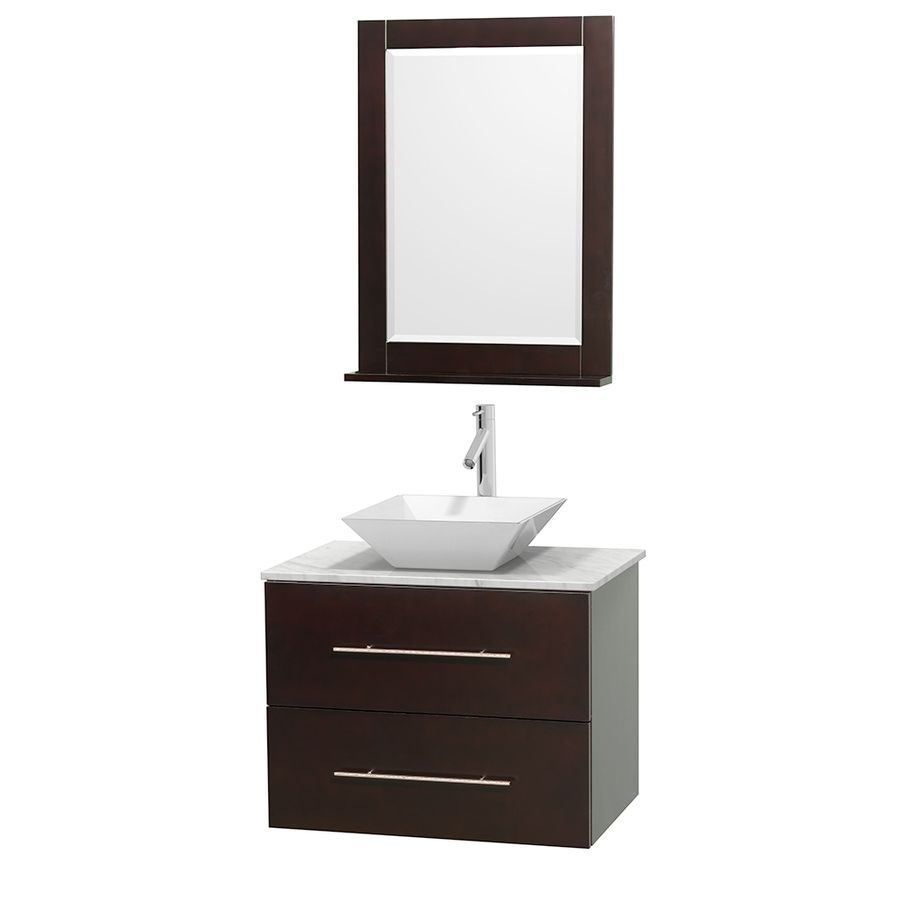 Wyndham Collection Centra Espresso Single Vessel Sink Bathroom