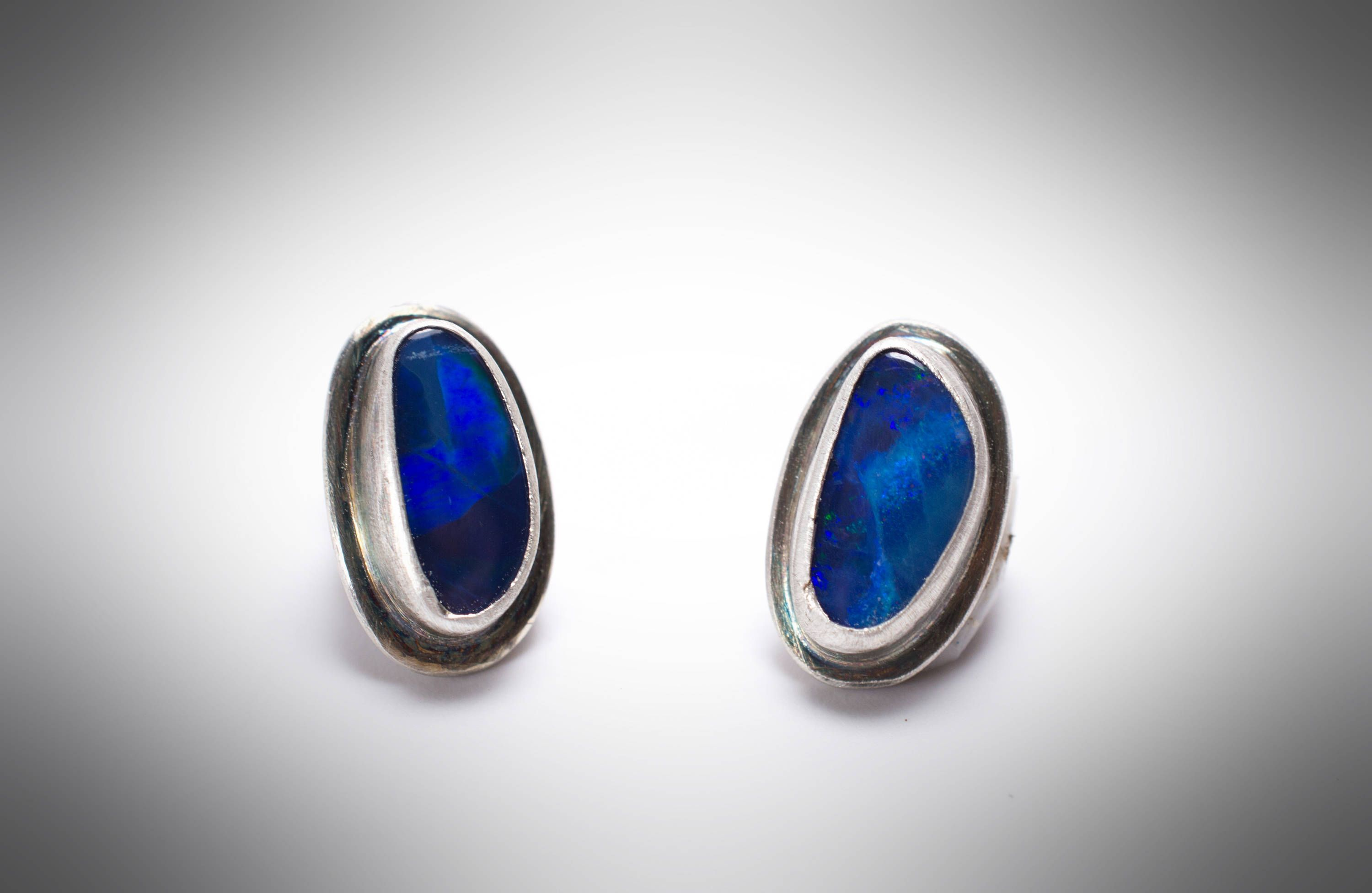 multicolored sparkling blue opal il nzou listing genuine studs earrings stud silver fullxfull fire black