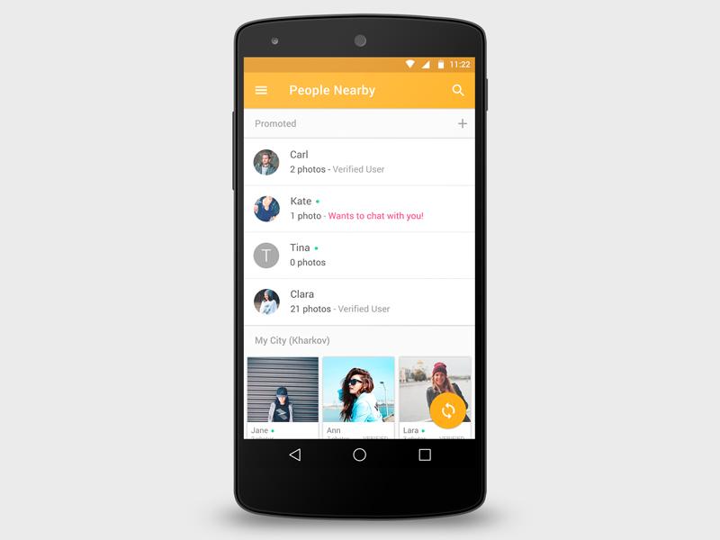 Bado Mobili ~ Badoo material redesign material design apps
