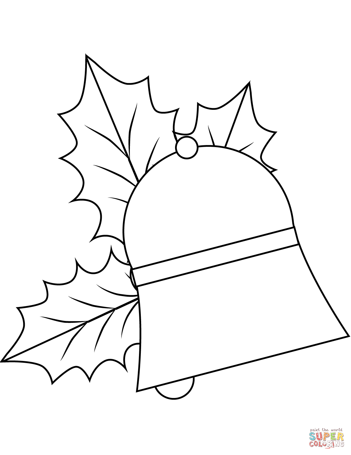 Christmas Bell Coloring Page From Jingle Bells Category Select From 28034 Printable Crafts O Coloring Pages Printable Christmas Coloring Pages Christmas Bells