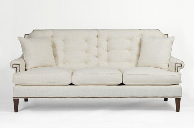 vintage style sofas - The Victoria Sofa from Gabby's Tailored Collection of  Custom Upholstery with nailhead